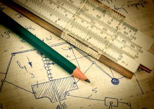 Skizze auf Papier mit Stift